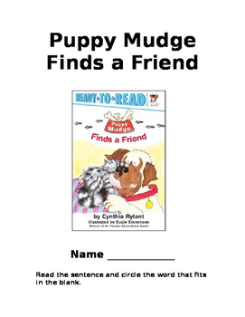 Puppy Mudge Finds a Friend- Comprehension Packet