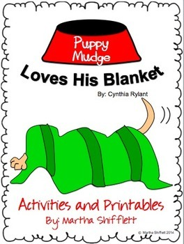 Puppy Mudge Loves His Blanket Activities and Printables