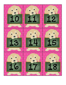 Puppy Number Labels