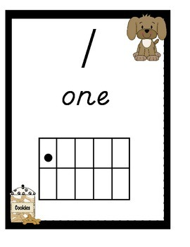 Puppy Number Posters 0-20 With Ten Frames