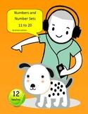 Puppy Number Sets 11-20 File Folder Matching Game