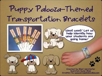 Puppy Palooza Themed Classroom Transportation Bracelets