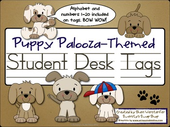 Puppy Palooza Themed Student Desk Tags