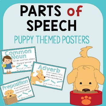 Puppy Parts of Speech Posters