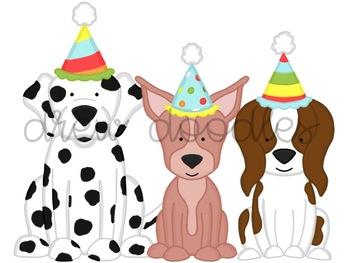 Puppy Party Digital Clip Art Set