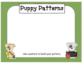 Puppy Patterns: A Spatial (Dot) Pattern Game