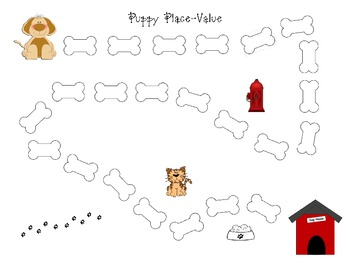 Puppy Place Value Game Board