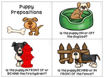 Puppy Preposition Practice!