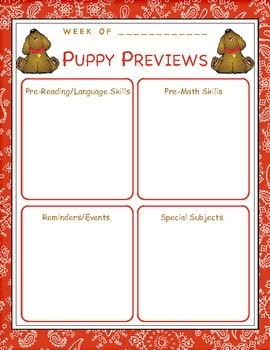 Puppy Previews Newsletter Template