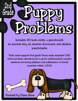 Puppy Problems: 2nd Grade Texas Math TEKS 2.4D