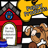 Puppy Products! Six Dog Themed Multiplication Games