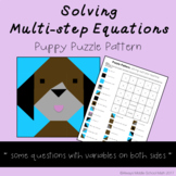 Solving Multi-Step Equations Color Mystery Picture