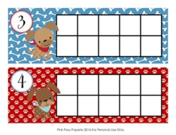 Puppy Ten Frame Cards
