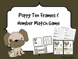 Puppy Ten Frames and Number Match Game