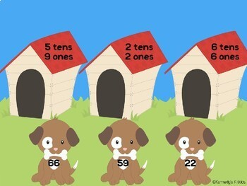 Puppy Tens and Ones (Great for Google Classroom!)