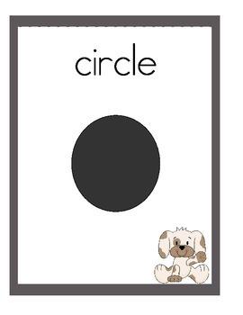 Puppy Theme 2D & 3D Shape Posters