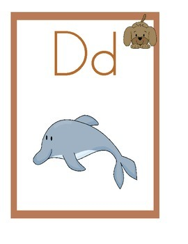 Puppy Theme Alphabet Posters With Pictures