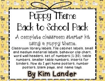 Puppy Theme Classroom Decor