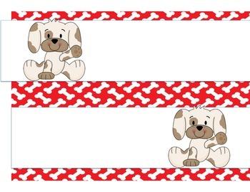 Puppy Theme Classroom Decor Pack