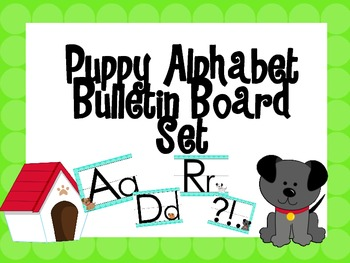 Puppy Themed Alphabet Set