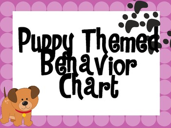 Puppy Themed Behavior Chart