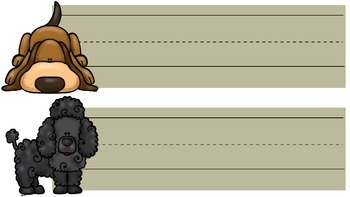 Back-toSchool Desk Tags: Puppy-Themed