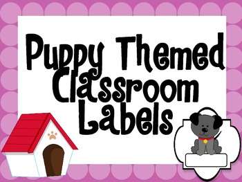 Puppy Themed Labels