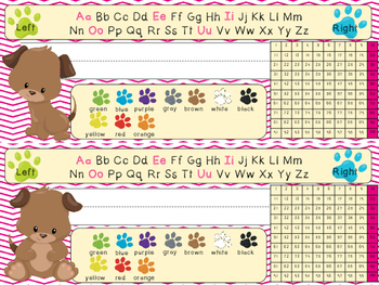 Puppy Themed Name Tags