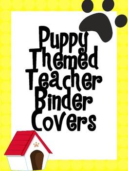 Puppy Themed Teacher Binder