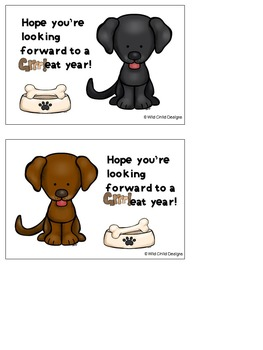 Back-to-School Postcards: Puppy-Themed
