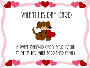 Puppy Valentines Card (Stand Up)