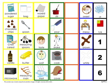AAC, Core Vocabulary, WH questions, Sequencing: Puppy chow snack-tivity