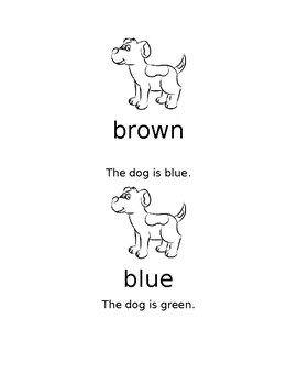 Puppy color word book