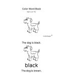 Puppy color word book