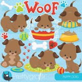 Puppy dog clipart commercial use, vector graphics, digital - CL817