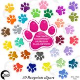 Paw Prints Clipart, Pet Clipart, Puppy Dog Paws,  {Best Teacher Tools} AMB-1860