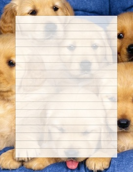 Puppy writing template