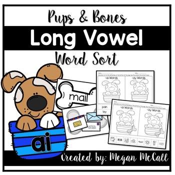 Pups & Bones-Long Vowel Sorts