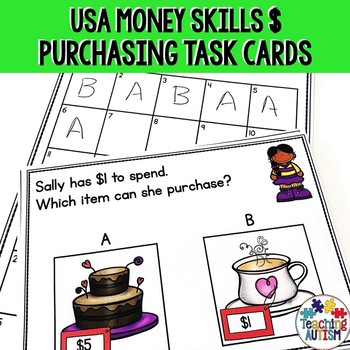 Life Skills Purchasing Items and Money Recognition USD