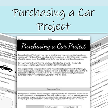 Purchasing a Car Project