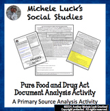 Pure Food and Drug Act FDA Document Primary Source Analysi