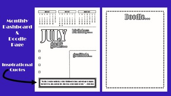 Pure Planner: A Personal Life Planner (17-month Horizontal Planner Printable)