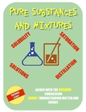 PURE SUBSTANCES and MIXTURES - a complete grade 7 science unit