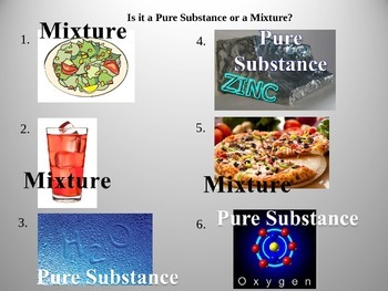 Pure Substance or Mixture? Science Opener