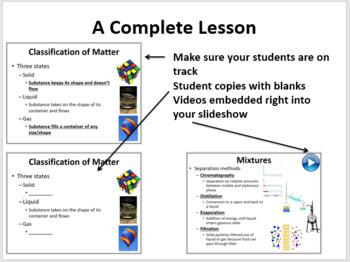 Pure Substances and Mixtures - 5E Lesson Bundle