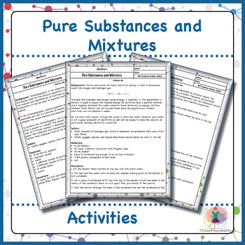 Pure Substances and Mixtures Activities