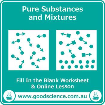 Pure Substances and Mixtures [Cloze Worksheet]