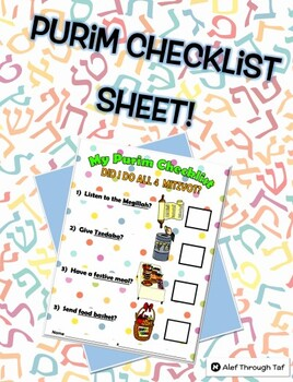Purim Checklist