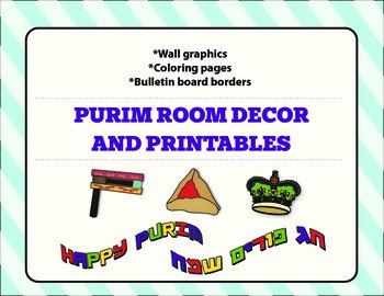 Purim: Room Decorations & Printables