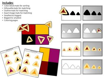 Purim Hamantaschen Sorting and Sequencing Activity